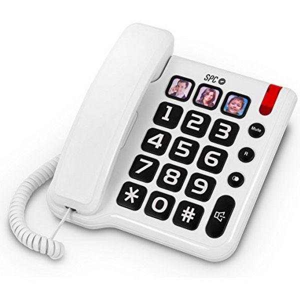 Telefon stacjonarny dla Seniorów SPC 3294 Biały