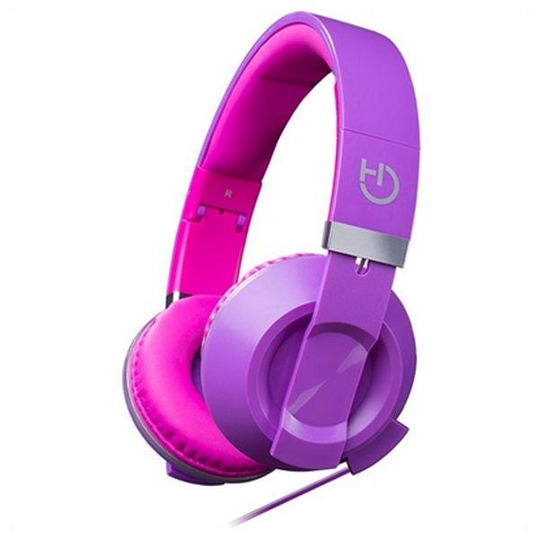 Słuchawki z Mikrofonem Hiditec COOL KIDS WHP010007 Purpura