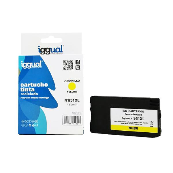 Recyklovaná Inkoustová Kazeta iggual HP IGG313213 Žlutý