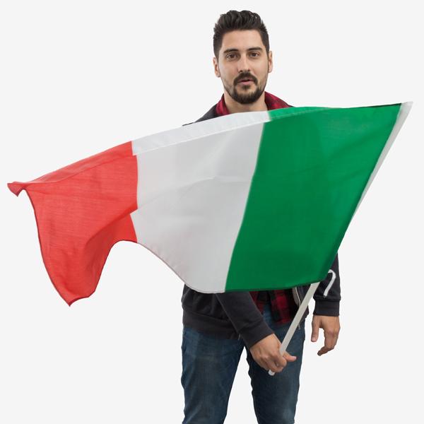 Italská Vlajka na Žerdi (90 x 60 cm)