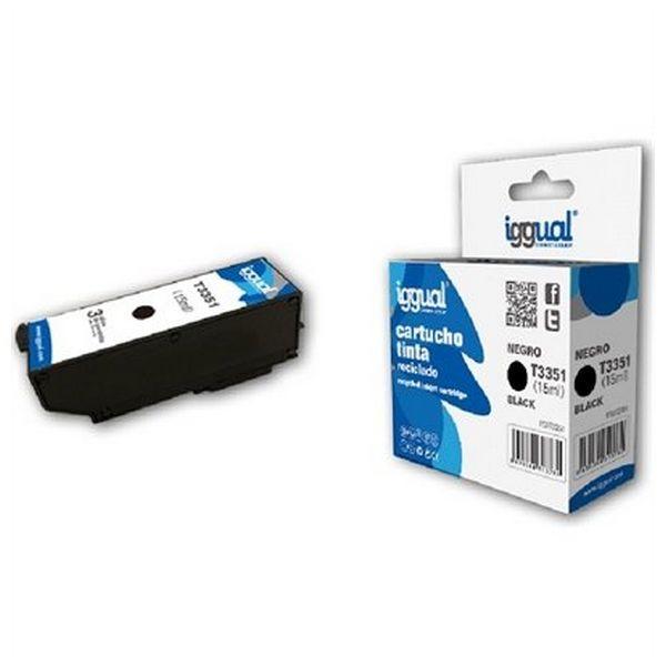 Recyklovaná Inkoustová Kazeta iggual CCICRC0305 IGG313732 Černý
