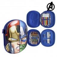 Piórnik potrójny The Avengers 58430 Granatowy
