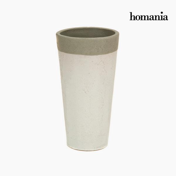 Biały ceramiczny wazon by Homania