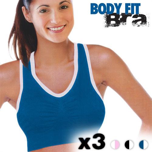 Biustonosze Sportowe Body Fit Bra (3 sztuki) - S