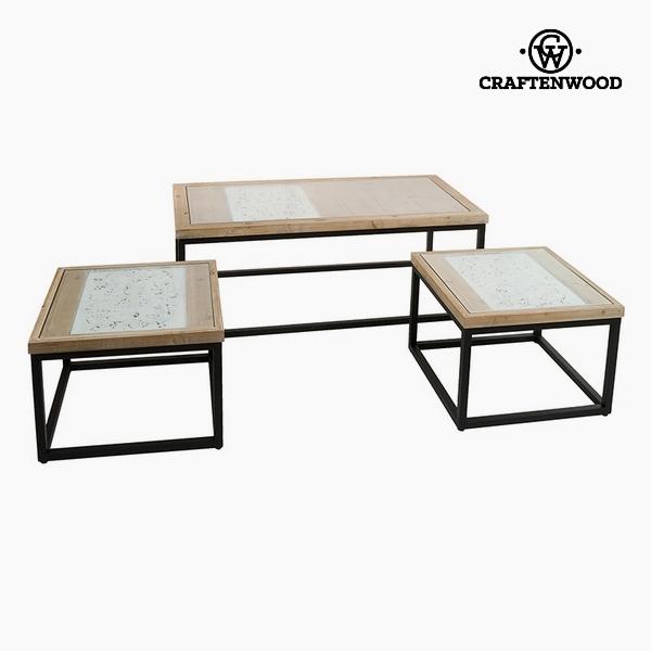 Souprava 3 stolů Jedlové dřevo (122 x 61 x 47 cm) by Craftenwood