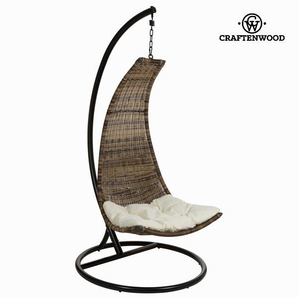 Závěsné houpací křeslo Ocel Ratan Béžový (130 x 76 x 73 cm) by Craftenwood