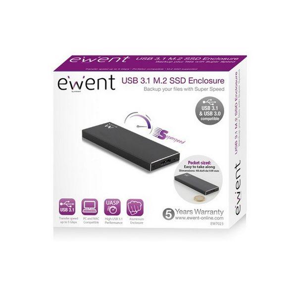 Obudowa zewnętrzna Ewent EW7023 SSD M2 USB 3.1 Aluminium