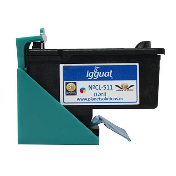 Recyklovaná Inkoustová Kazeta iggual Canon PSICL511 Barva