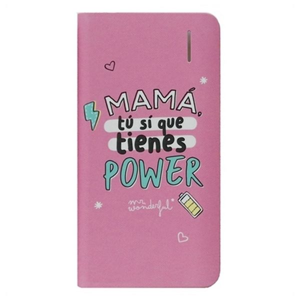 Powerbanka Mr. Wonderful MRPWB031 4000 mAh Růžový