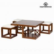 Konferenční stolek Dřevo mindi (90 x 90 x 45 cm) - Chocolate Kolekce by Craftenwood