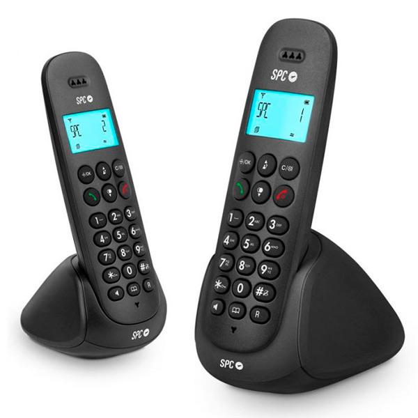 Telefon Bezprzewodowy DUO Telecom 7312N DECT Czarny