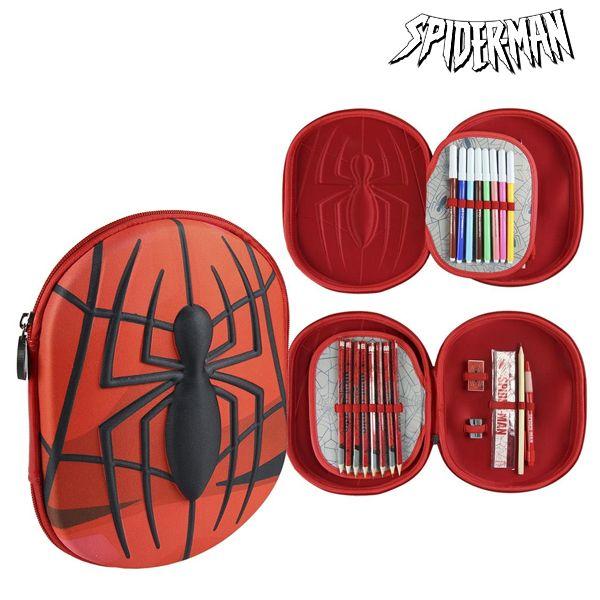 Piórnik potrójny Spiderman 58409 Czerwony