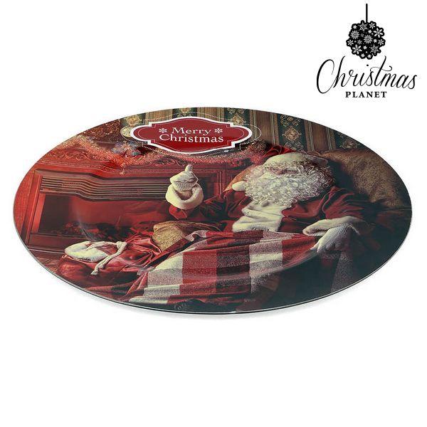Dezertní talíř z recyklovaného skla Christmas Planet 1154 Děda mráz