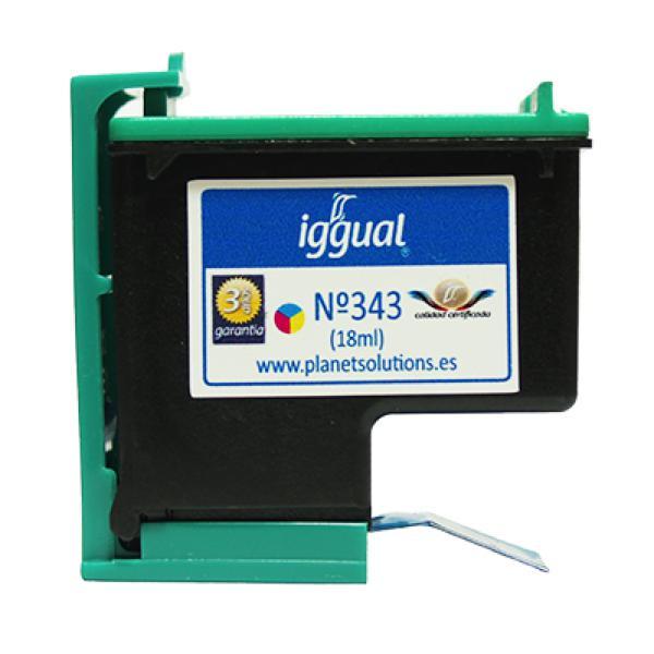 Tusz z Recyklingu iggual HP PSIC8766E Kolor
