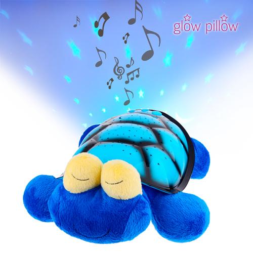 Glow Pillow Plyšová Hračka s LED Projektorem - Tortuga