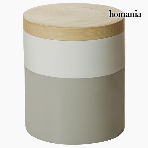 Szaro białe bambusowe pudełko by Homania