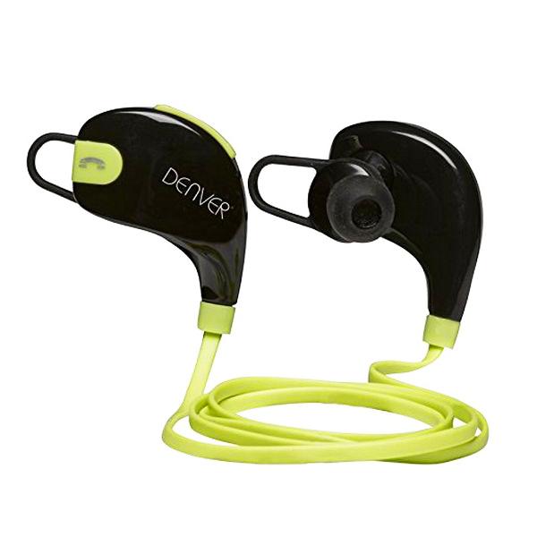 Sportovní Bluetooth sluchátka Denver Electronics BTE-100GREEN Černý Zelená