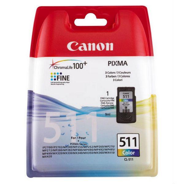 Originální inkoustové náplně Canon CL-511