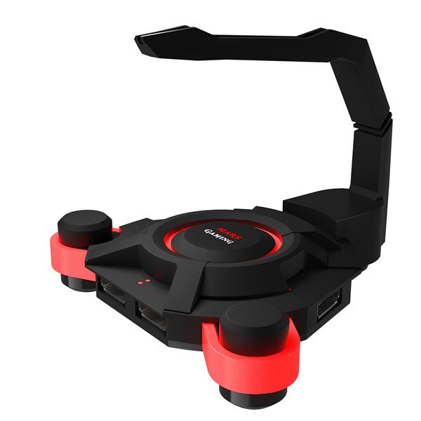 Uchwyt do kabli Gaming Tacens MMS2 MMS2 4 x USB 3.0 120 mm Czarny Czerwony