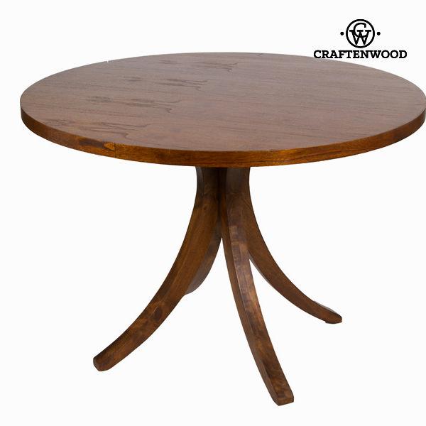 Ciemne ogrągłe biurko claudia - Serious Line Kolekcja by Craftenwood
