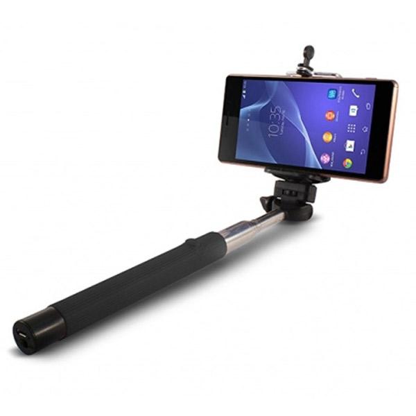 Bluetooth Teleskopická Tyč na Selfie KSIX 45 mAh 5 V Černý