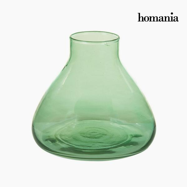 Vase made from recycled glass Zelená - Crystal Colours Deco Kolekce by Homania