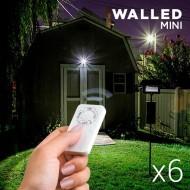 Mini Światła LED z Pilotem WalLED (6 sztuk)