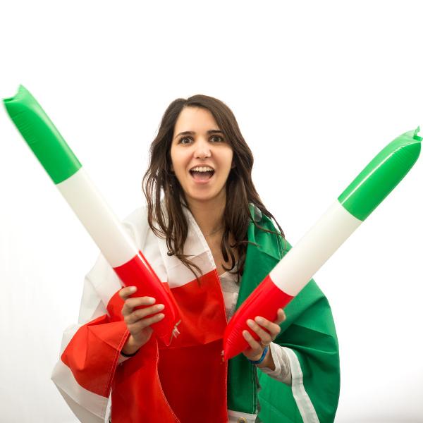 Bam Bam Tyče s Italskou Vlajkou