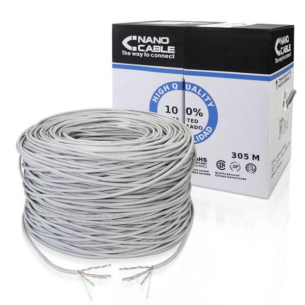 Síťový kabel UTP kategorie 5e NANOCABLE ANEAHE0429 10.20.1704-SLD 305 m Šedý