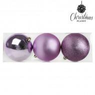 Vianočné gule Christmas Planet 7339 10 cm (3 uds) Fialová