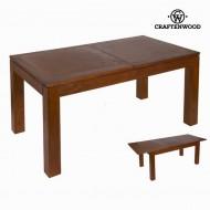 rozkládací stolek Dřevo mindi (160 x 90 x 78 cm) - Nogal Kolekce by Craftenwood