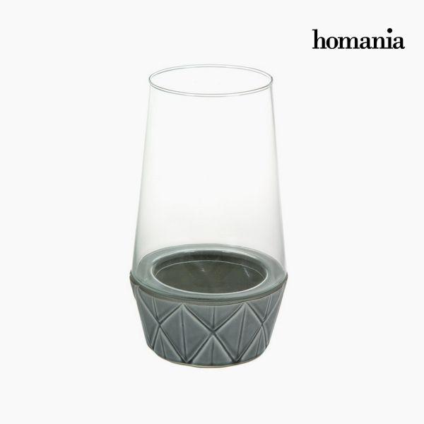 Świecznik Ceramika Szkło - New York Kolekcja by Homania