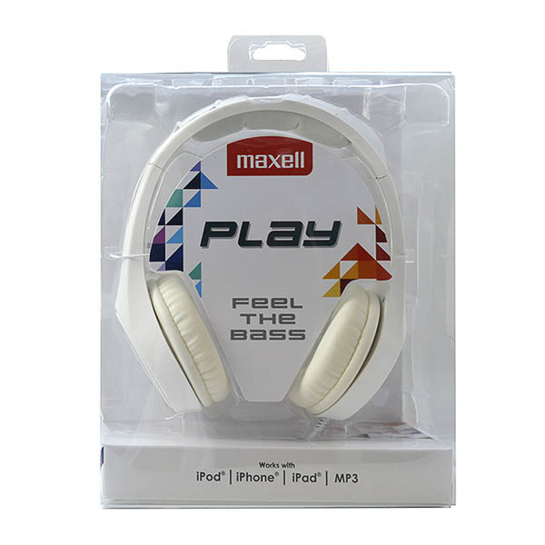 Słuchawki Maxell Play MXH-HP500 Biały Diadem