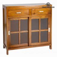 Skříňka Dřevo mindi (90 x 40 x 90 cm) - Serious Line Kolekce by Craftenwood