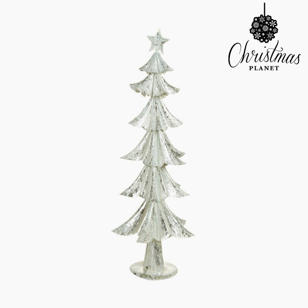 Vánoční stromeček Železo Stříbřitý (28 x 28 x 74 cm) by Christmas Planet