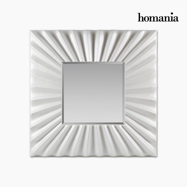 Lustro Żywica syntetyczna Szkło fazowane Biały (99 x 5 x 99 cm) by Homania