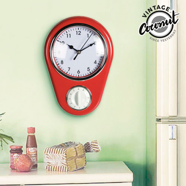 Zegar Ścienny Vintage z Minutnikiem