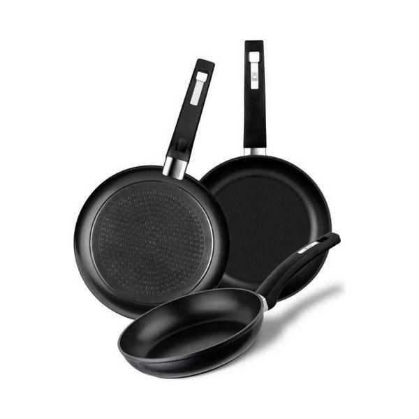 Set of pans BRA A121650 (3 pcs) Černý