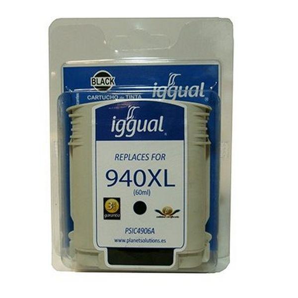 Recyklovaná Inkoustová Kazeta iggual HP SP-H-940BKXL-A Černý