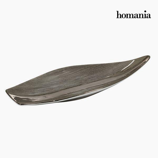 Dekoracja na Stół Srebro Czarny - New York Kolekcja by Homania