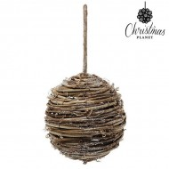 Vianočné gule Christmas Planet 4502 14 cm Drevo Gaštanová