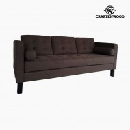 Canapea cu 2 Locuri Lemn de pin Poliester Maro (203 x 81 x 81 cm) by Craftenwood