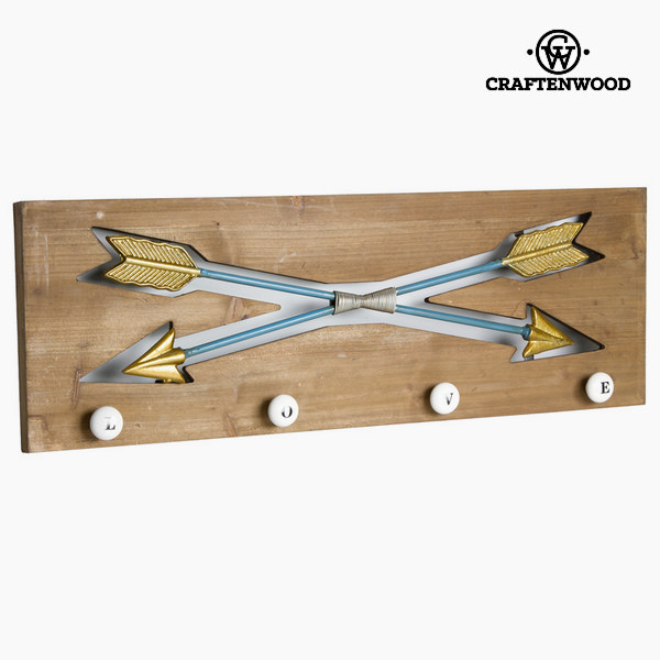 Nástěnný věšák Dřevo Kov (70 x 5 x 24 cm) by Craftenwood