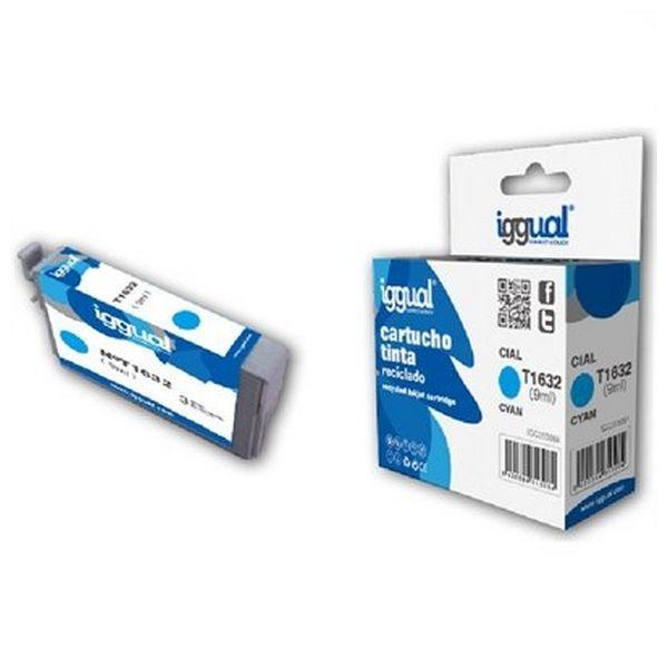 Recyklovaná Inkoustová Kazeta iggual Epson E-1632 Azurová