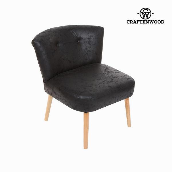 Dawne czarne krzesło retro by Craftenwood