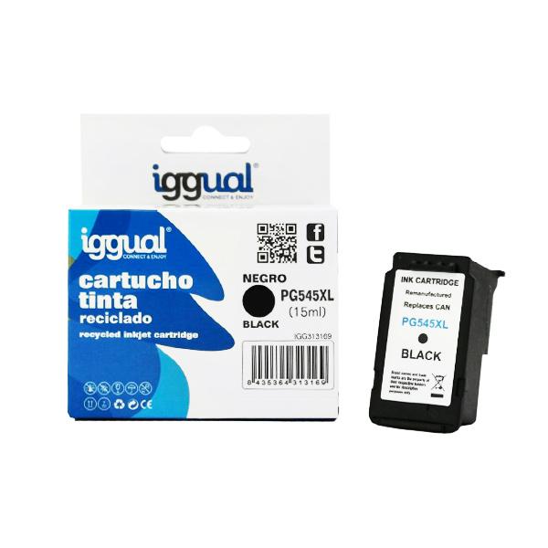 Recyklovaná Inkoustová Kazeta iggual Canon IGG313169 Černý