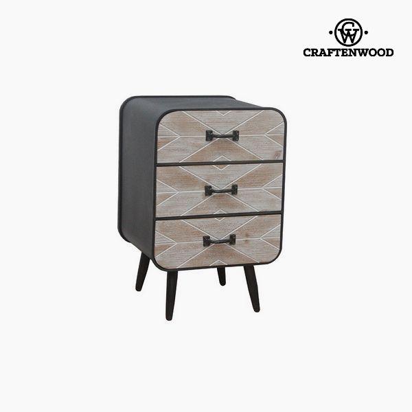 Stolik Nocny Drewno świerkowe (59 x 38 x 38 cm) by Craftenwood