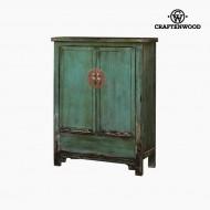 Skříňka Jilmové dřevo Modrý (120 x 132 x 40 cm) - Country Kolekce by Craftenwood