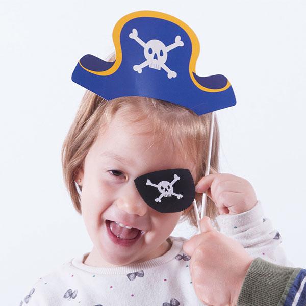 Akcesoria Pirata do Zabawnych Zdjęć (zestaw 12 sztuk)