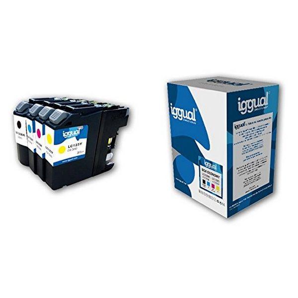 Recyklovaná Inkoustová Kazeta (balení po 4) iggual CCICRC0337 IGG313848 Box-Economy Azurová Purpurov